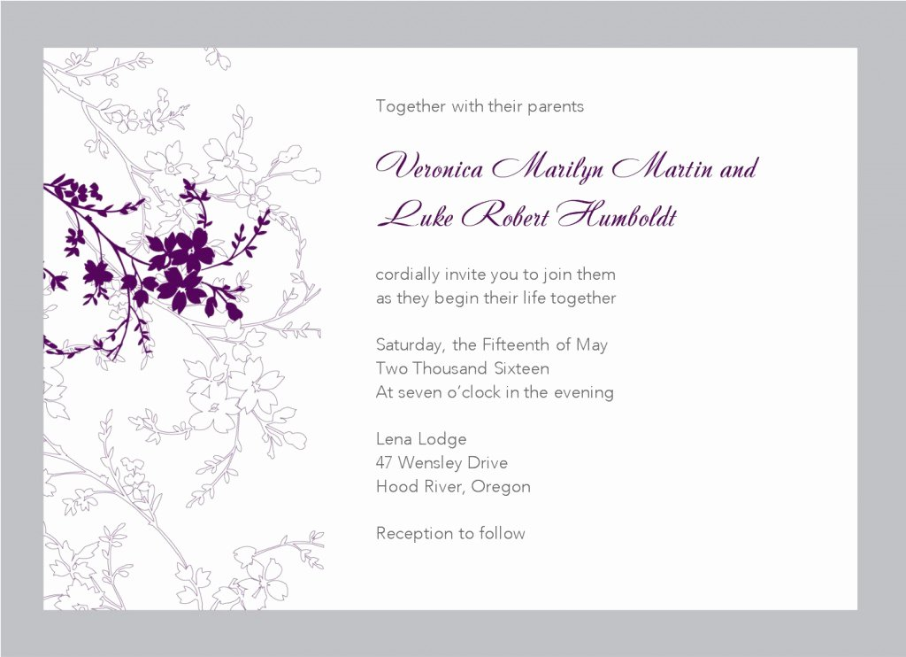 Wedding Invitations Template Free Luxury Free Printable Wedding Invitation Templates Download