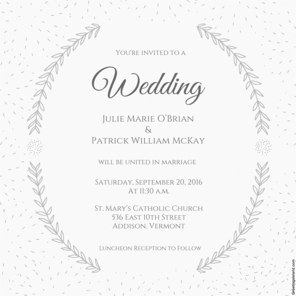 Wedding Invitations Template Free Luxury Wedding Invitation Template 71 Free Printable Word Pdf