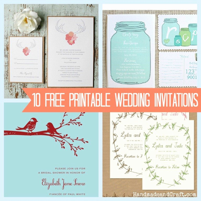 Wedding Invitations Template Free Unique 10 Free Printable Wedding Invitations Diy Wedding