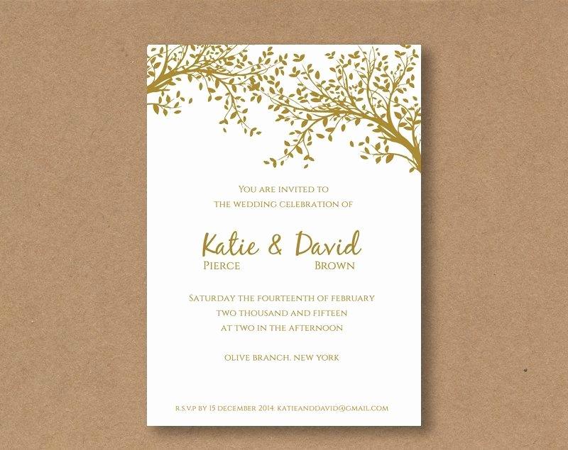 Wedding Invitations Word Template Inspirational Diy Editable and Printable Wedding Invitation Template