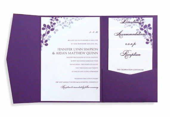 Wedding Invitations Word Template New Pocket Wedding Invitation Template Set Download by