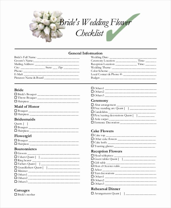 Wedding Plan Checklist Template Awesome Simple Wedding Checklist 27 Free Word Pdf Documents