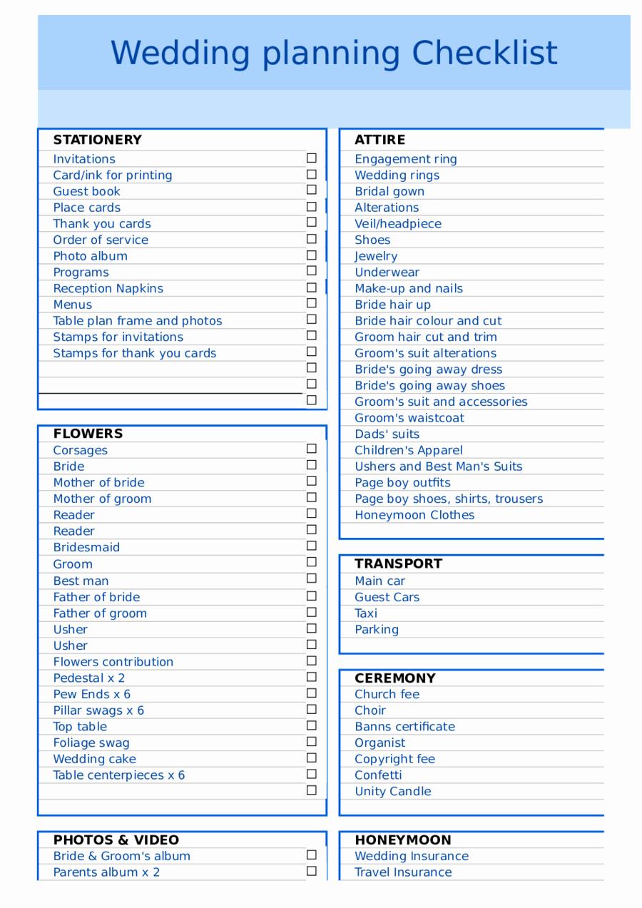 Wedding Plan Checklist Template Elegant 2019 Wedding Checklist Template Fillable Printable Pdf