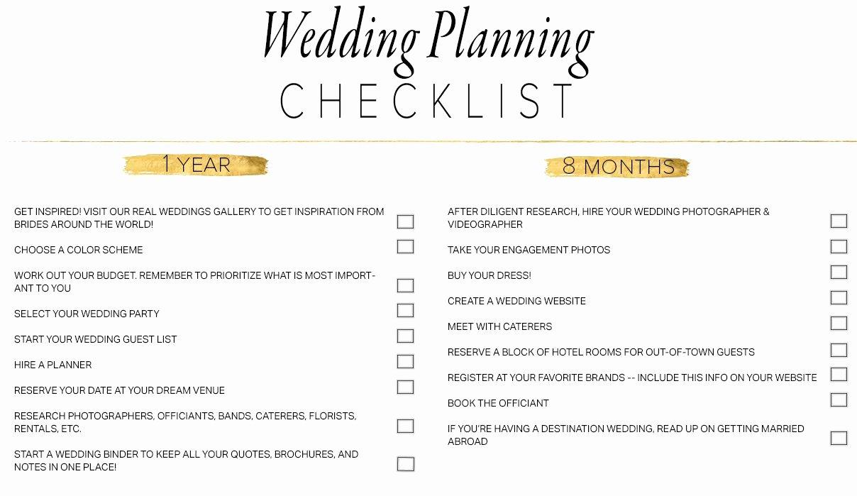 Wedding Plan Checklist Template Inspirational 11 Free Printable Wedding Planning Checklists