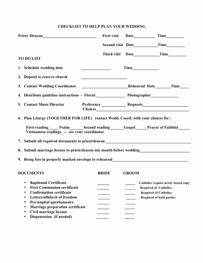 Wedding Plan Checklist Template Inspirational Wedding Planning Checklist Template In Word and Pdf formats