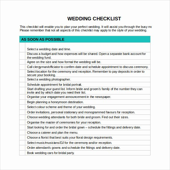 Wedding Plan Checklist Template Luxury Sample Wedding Checklist 14 Documents In Pdf Word