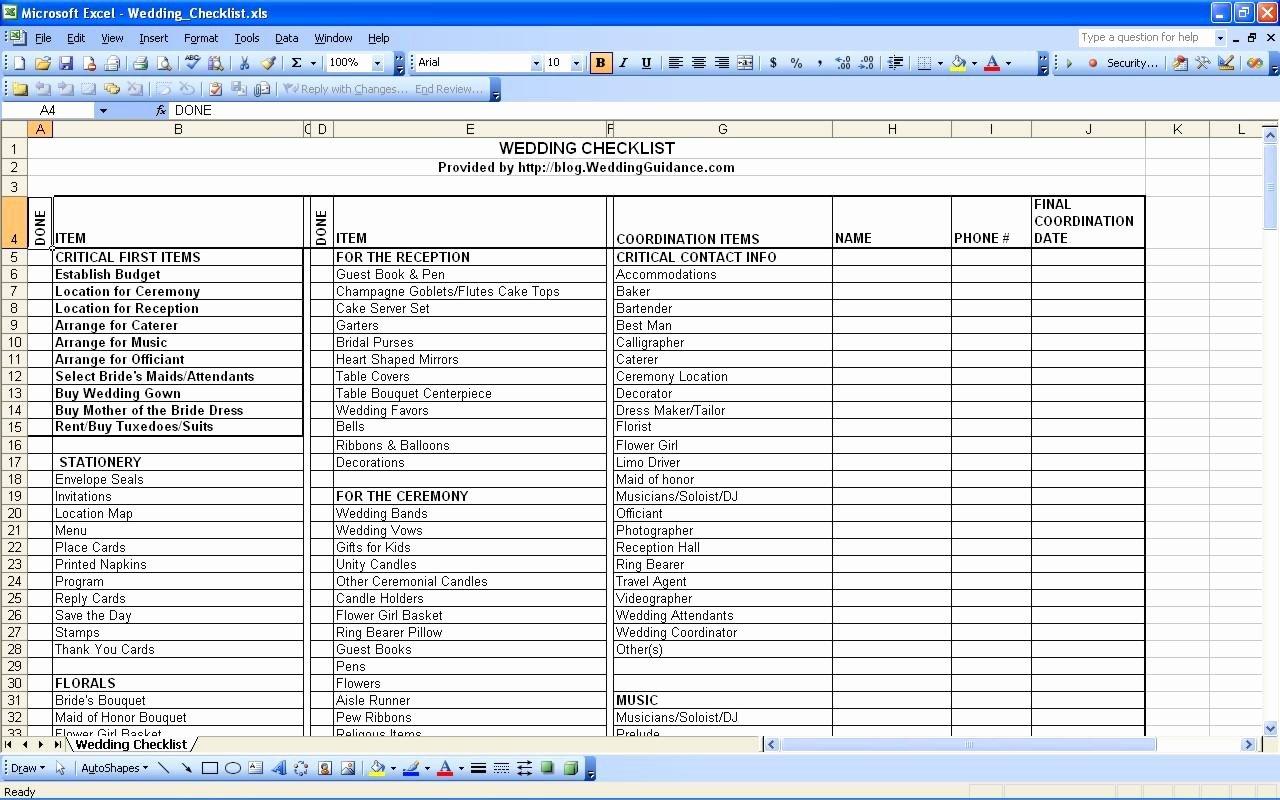 Wedding Plan Checklist Template New Planning for A Wedding Checklist for Planning A Wedding