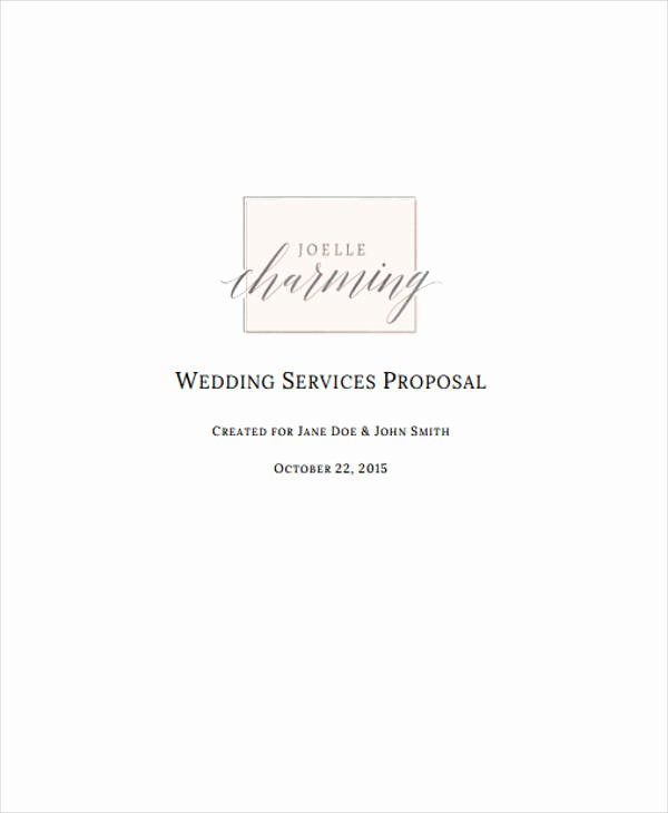 Wedding Planner Proposal Template Best Of 46 event Proposal Samples & Templates Word Pdf Pages