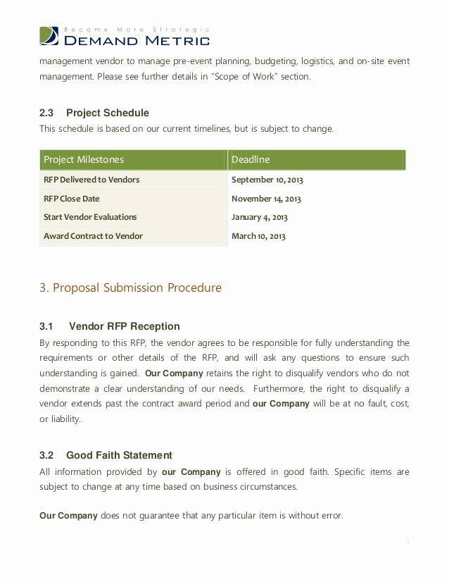 Wedding Planner Proposal Template Elegant event Management Rfp Template