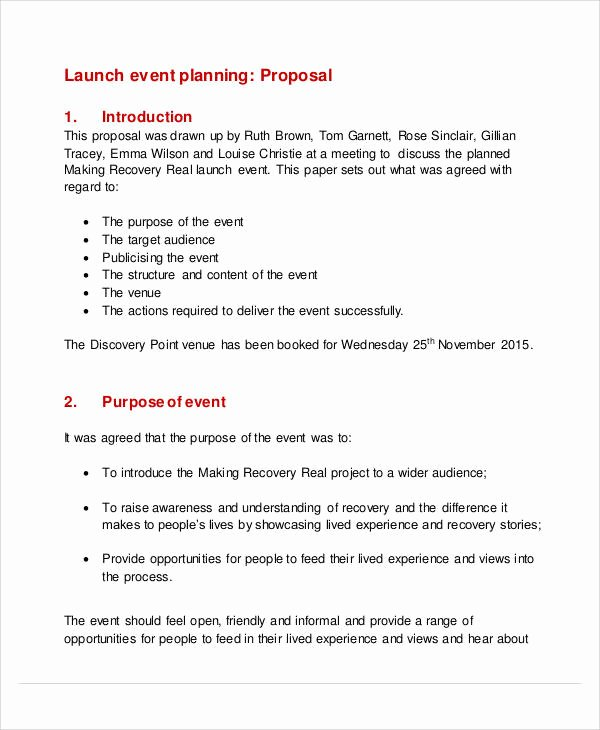 Wedding Planner Proposal Template Lovely 58 event Proposal Samples Word Pdf