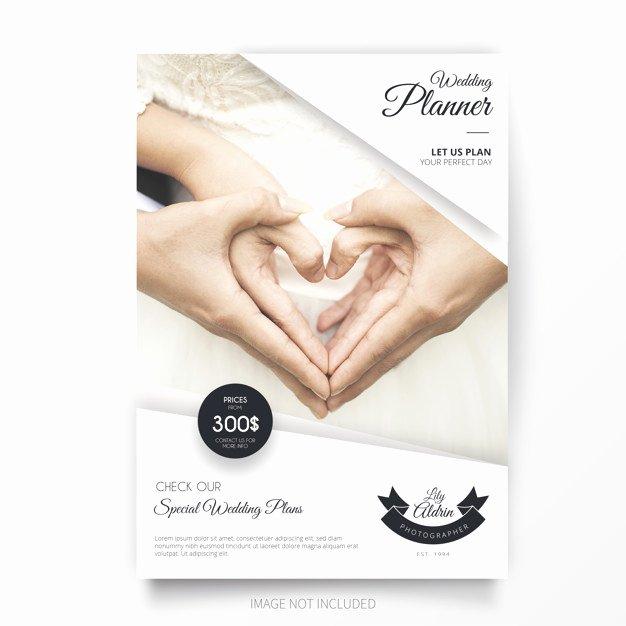 Wedding Planner Template Free Best Of Wedding Planner Brochure Template Vector