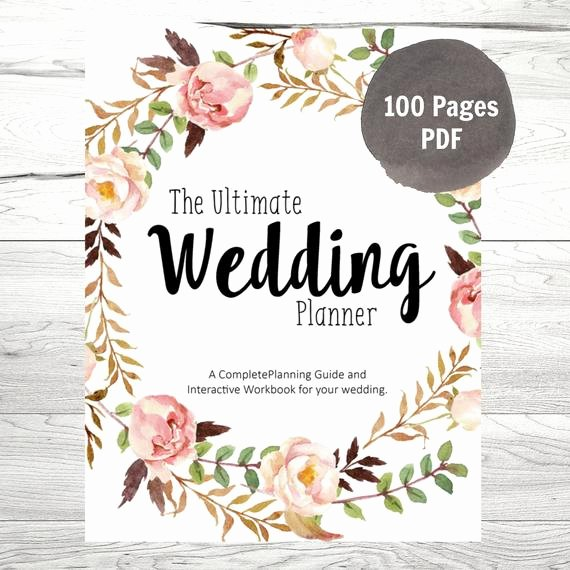 Wedding Planner Template Free Download Elegant Wedding Planner Printable Wedding Planner by