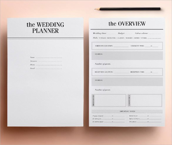 Wedding Planner Template Free Download Fresh 30 Wedding Planner Samples Word Psd Pages