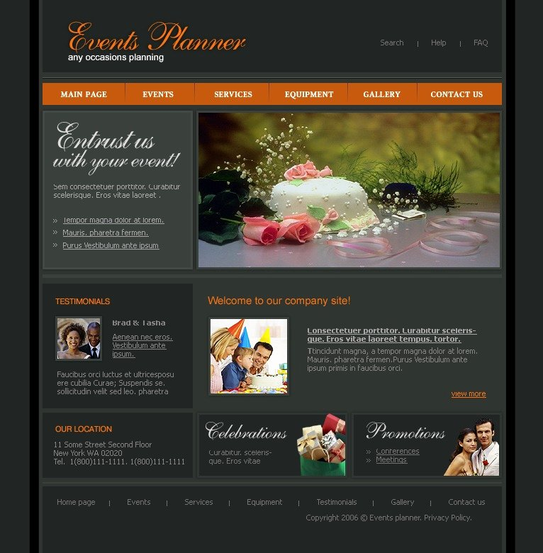 Wedding Planner Template Free Download Fresh event Planner Website Template