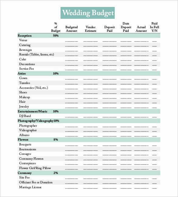 Wedding Planner Template Free Download Luxury 24 Wedding Bud Templates Free Sample Example