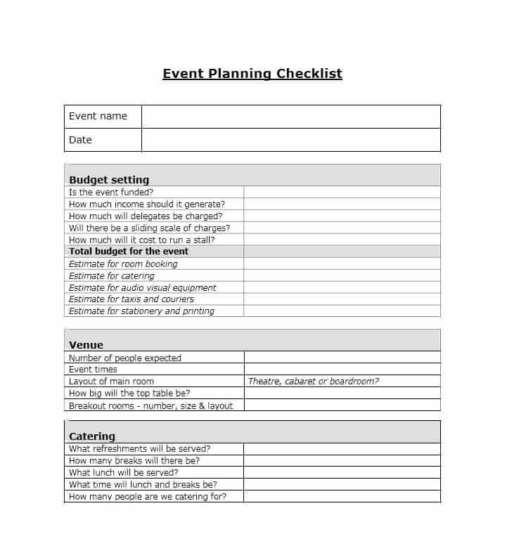 Wedding Planner Template Free Download Luxury 50 Professional event Planning Checklist Templates