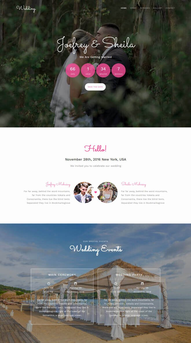 Wedding Planner Template Free Download Luxury Free event Bootstrap Template List Of Best Quality HTML5