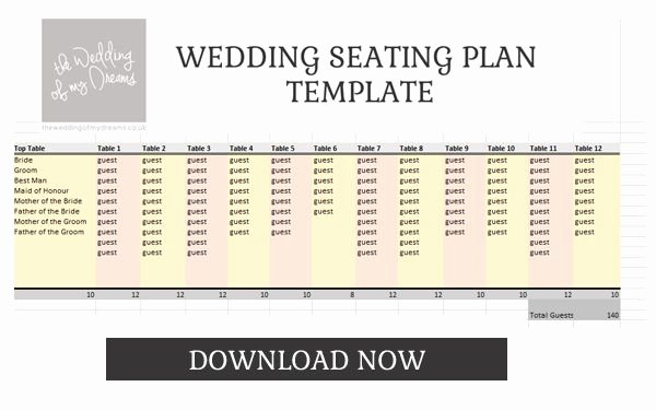 Wedding Planner Template Free Download Luxury Wedding Seating Plan Template & Planner – Free Download