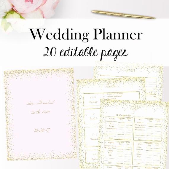 Wedding Planner Template Free Elegant Wedding Planner Template Pdf Editable Wedding Planner