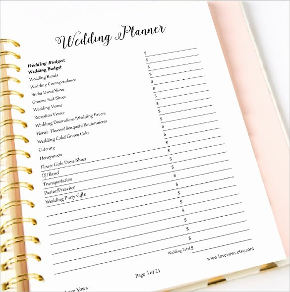 Wedding Planner Template Free Inspirational 30 Wedding Planner Samples Word Psd Pages