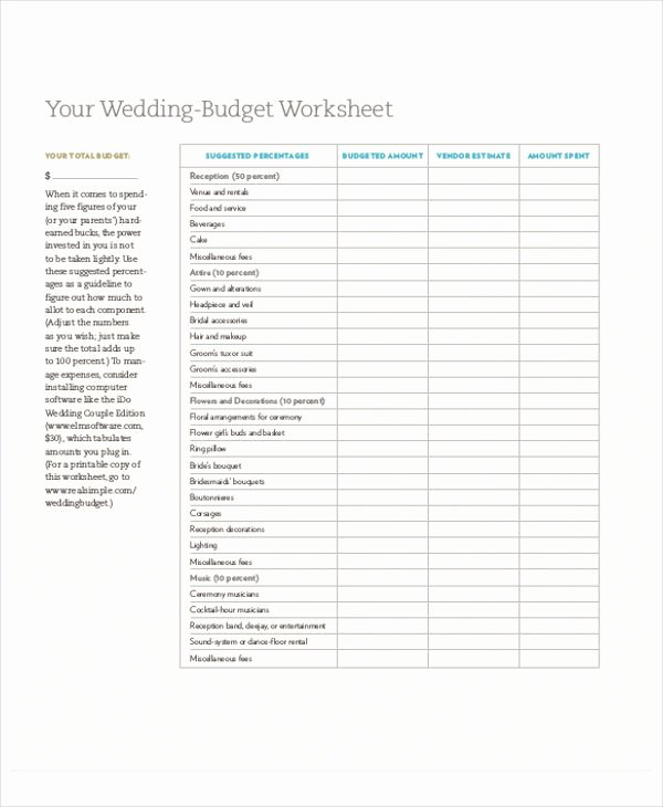 Wedding Planner Template Free Inspirational 7 Wedding Planner Printable Sample Examples In Word Pdf