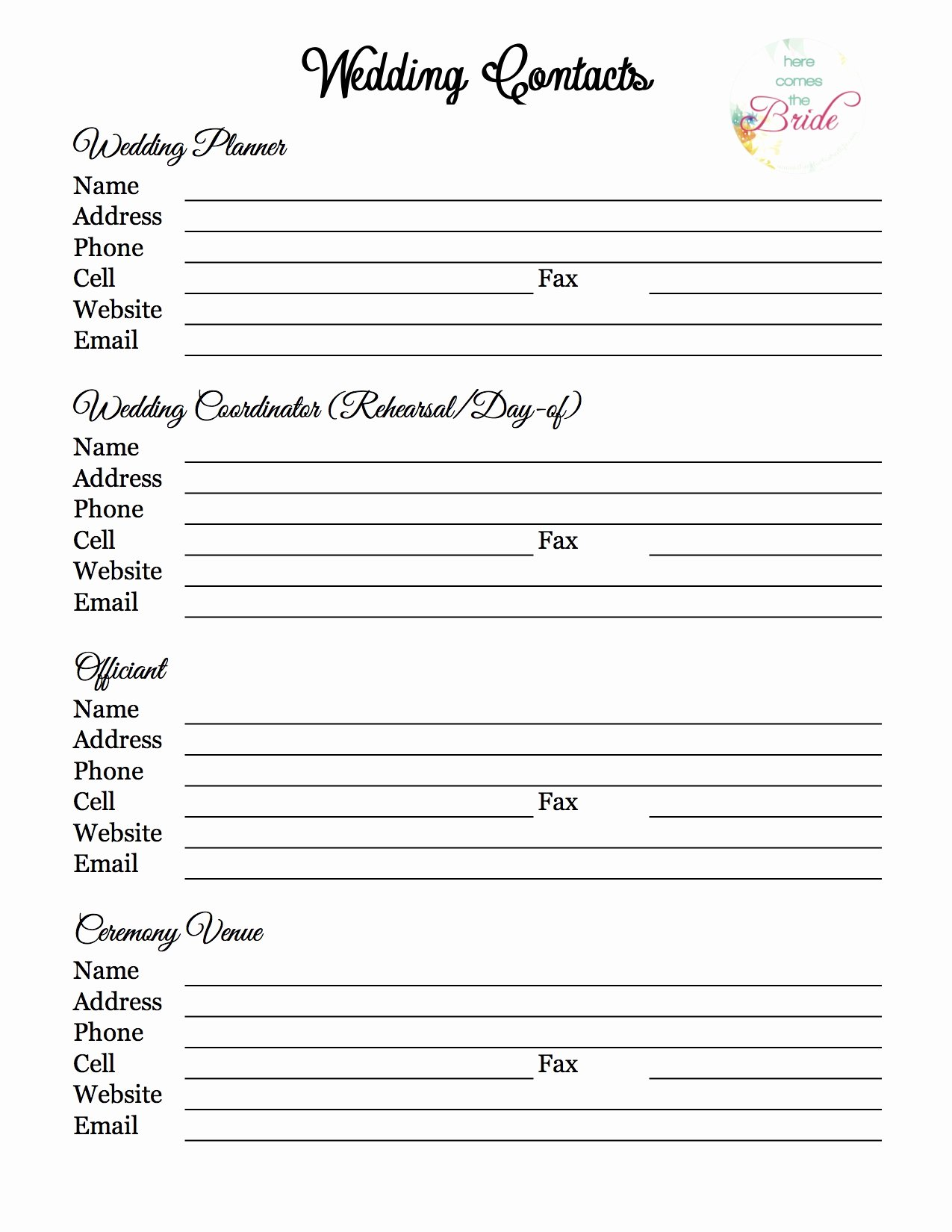 Wedding Planner Template Free Inspirational Wedding Planner with Free Printables – Refurbished
