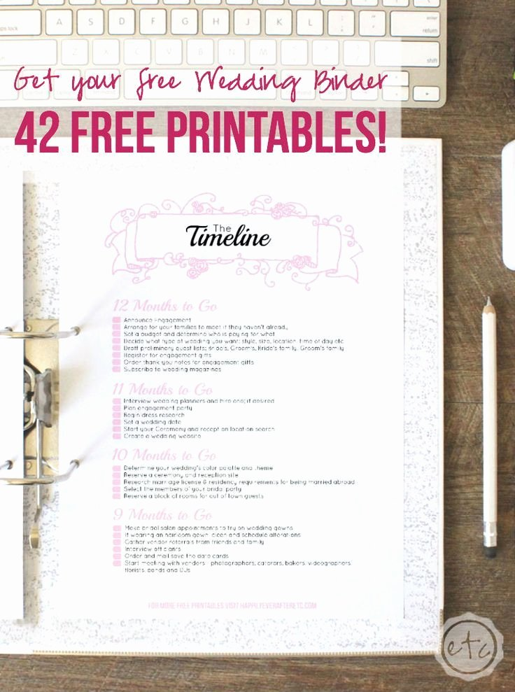 Wedding Planner Template Free New How to Put to Her Your Perfect Free Wedding Binder