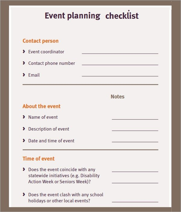 Wedding Planner Template Word Best Of 11 Sample event Planning Checklists – Pdf Word