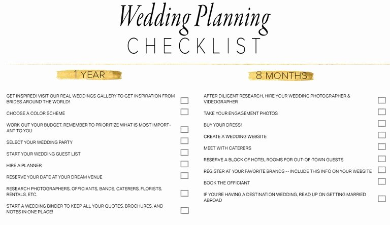 Wedding Planner Template Word Lovely 11 Free Printable Checklists for Your Wedding Timeline