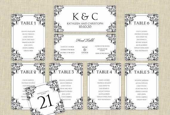 Wedding Planner Template Word Unique Wedding Seating Chart Template Download Instantly