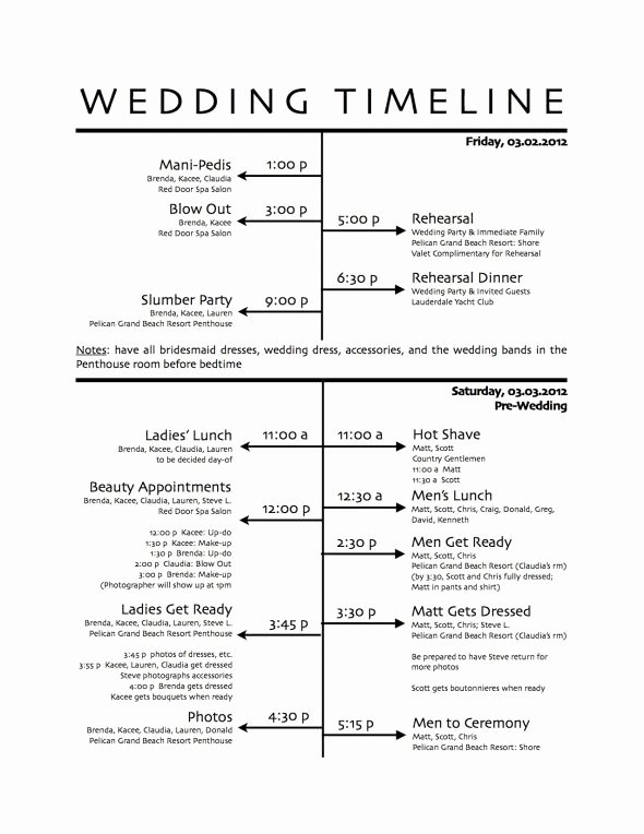 Wedding Planner Timeline Template Awesome How to Create A Wedding Reception Timeline