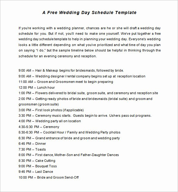 Wedding Planner Timeline Template Luxury 32 Wedding Timeline Templates Word Excel Pdf Psd