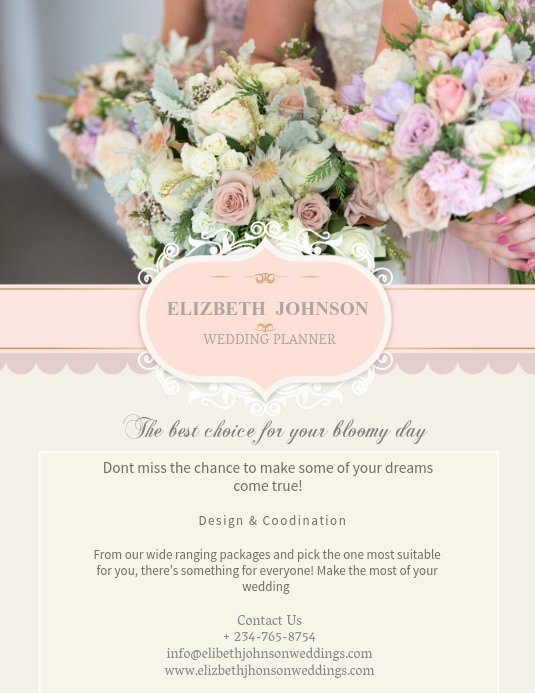 Wedding Planner Website Template Beautiful Copy Of Wedding Planner Flyer Template