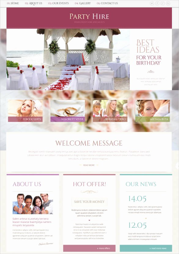 Wedding Planner Website Template Elegant 33 event Planning Website themes & Templates