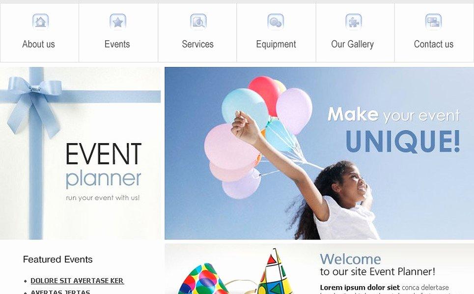 Wedding Planner Website Template Elegant event Planner Website Template