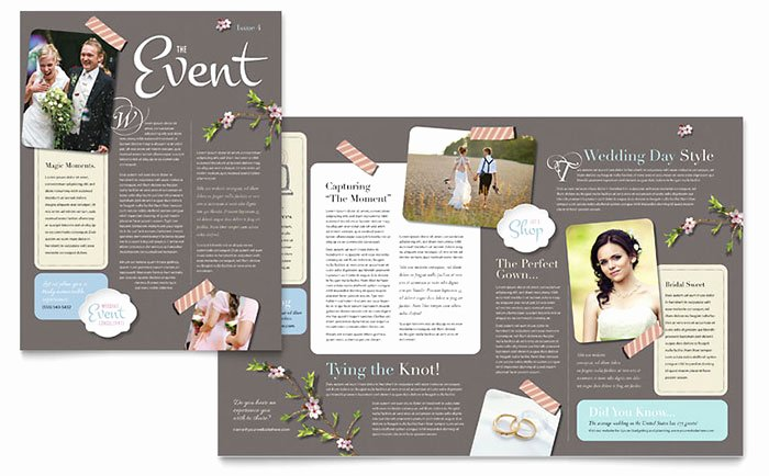 Wedding Planner Website Template Elegant Wedding Planner Newsletter Template Design