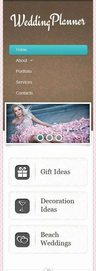 Wedding Planner Website Template Inspirational Wedding Planner Responsive Website Template