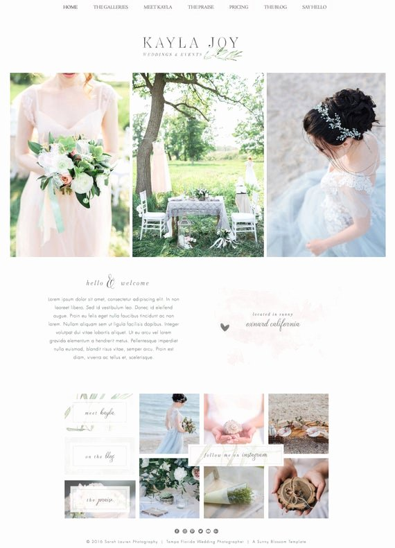 Wedding Planner Website Template Inspirational Wix Website Template Wedding Planner Website event Planner