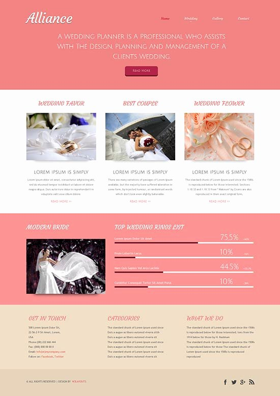 Wedding Planner Website Template Luxury 80 Best Wedding Website Templates Free & Premium