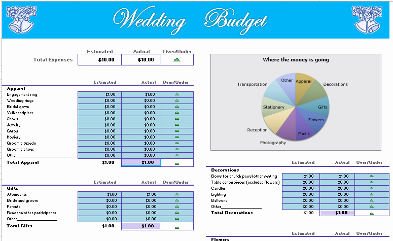 Wedding Planning Budget Template Awesome Wedding Bud Template Excel Bud Wedding