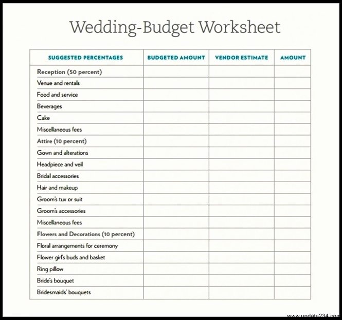 Wedding Planning Budget Template Inspirational Sample Wedding Bud Template Download Template