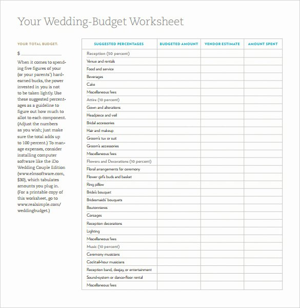Wedding Planning Budget Template New 17 Wedding Template Doc Excel Pdf Psd Indesign