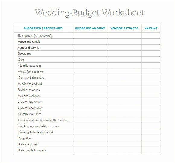 Wedding Planning Budget Template Unique Free 8 Wedding Bud Samples In Google Docs