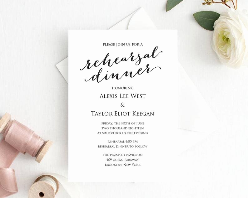 Wedding Rehearsal Dinner Invitation Template Beautiful Rehearsal Dinner Invitation Rehearsal Dinner Invitation