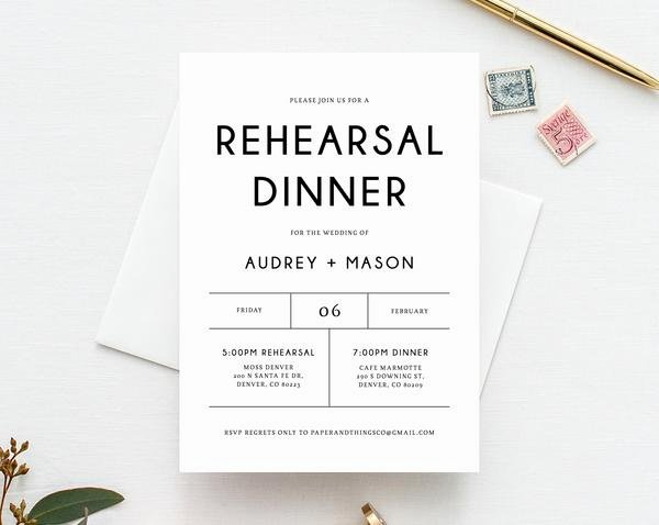 Wedding Rehearsal Dinner Invitation Template Beautiful Rehearsal Dinner Invitation Template Printable Wedding