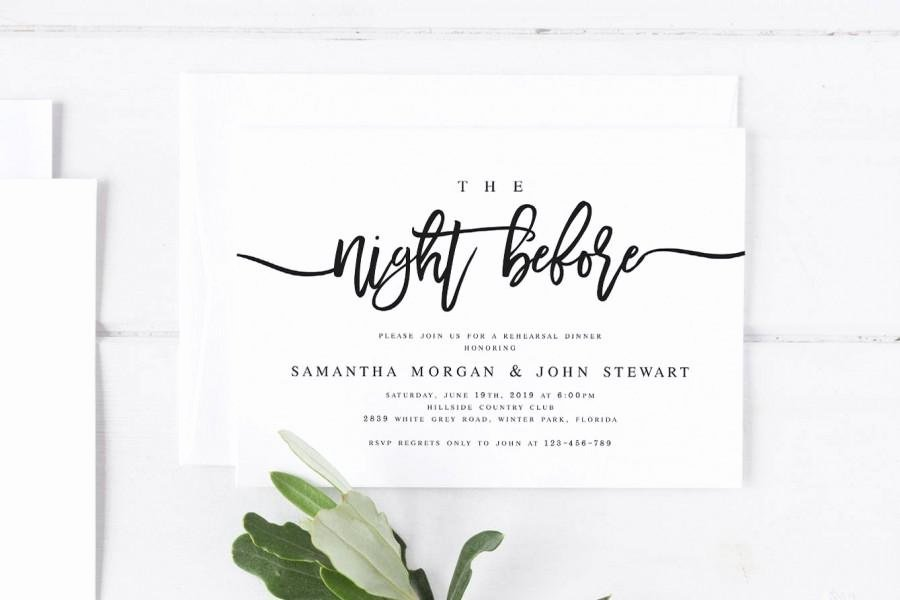 Wedding Rehearsal Dinner Invitation Template Best Of the Night before Rehearsal Dinner Invitation Template