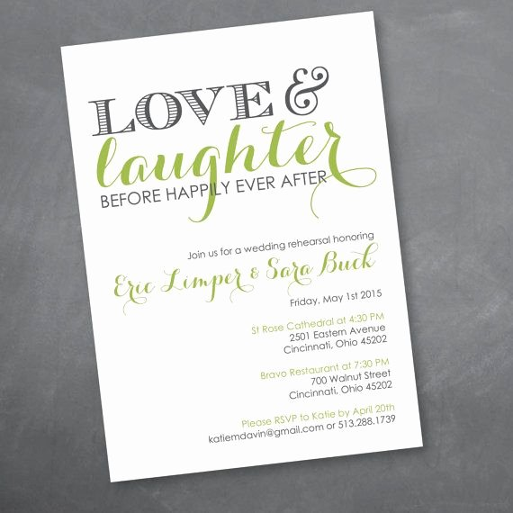 Wedding Rehearsal Dinner Invitation Template Elegant Love and Laughter Rehearsal Dinner Invitation Digital