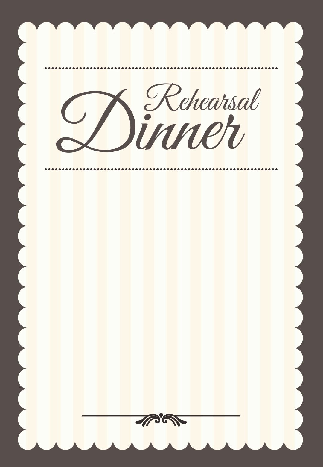 Wedding Rehearsal Dinner Invitation Template Elegant Stamped Rehearsal Dinner Free Printable Rehearsal Dinner