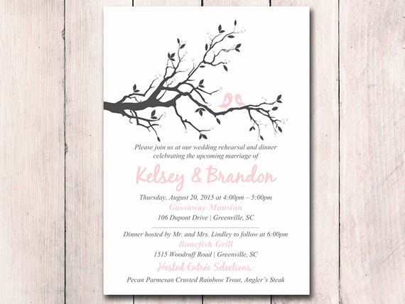 Wedding Rehearsal Dinner Invitation Template Fresh Rehearsal Dinner Invitation Template Printable Wedding