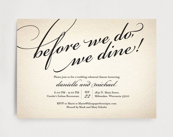 Wedding Rehearsal Dinner Invitation Template Fresh Wedding Rehearsal Dinner Invitation Editable Template before